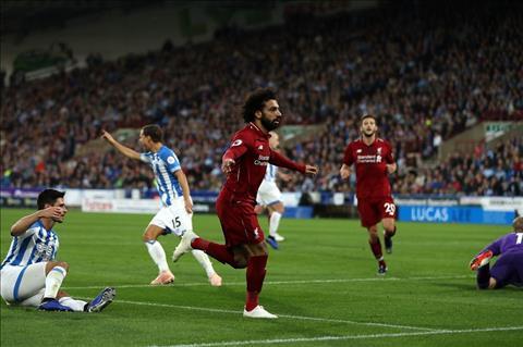 Salah ghi ban cho Liverpool truoc Hudderfield