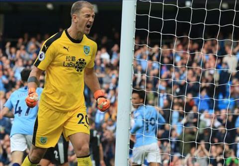 Thu mon Joe Hart tran Man City 5-0 Burnley