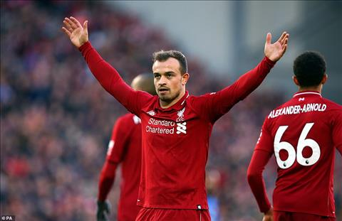 Xherdan Shaqiri la nhan to lam thay doi cuc dien tran dau giup Liverpool thang Cardiff.