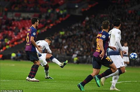 Tottenham vs Barca Lamela