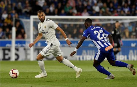 Benzema tran Real Madrid vs Alaves