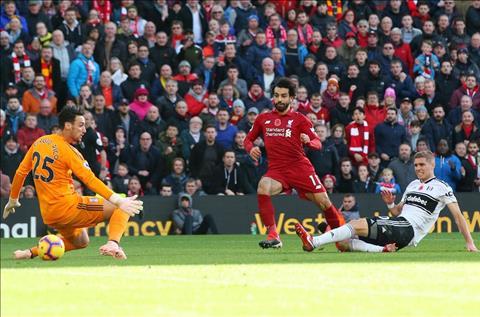 Salah ghi ban Liverpool vs Fulham