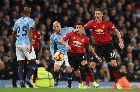 Alexis Sanchez tran Man City 3-1 M.U.