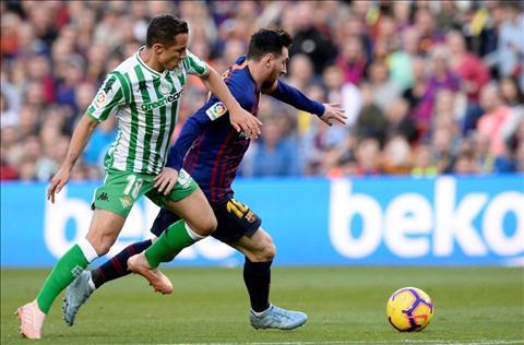 Messi di bong Barca vs Betis
