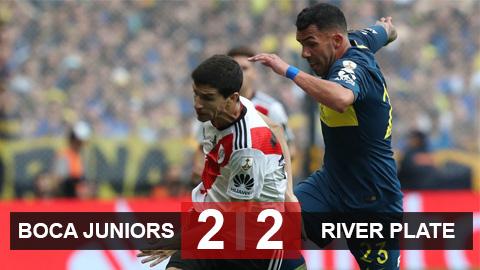 Video bàn thắng Boca Juniors vs River Plate 2-2 đêm qua hình ảnh