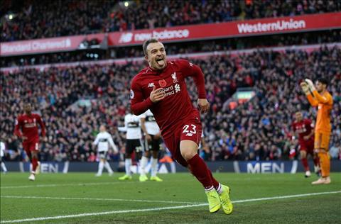 Shaqiri ghi ban cho Liverpool