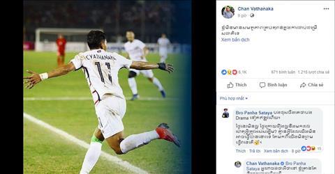 Thua nguoc Myanmar, Chan Vathanaka - Messi Campuchia doa bo AFF Cup 2018.