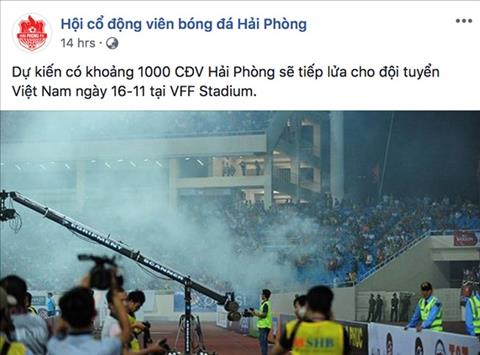 CĐV Việt Nam dọa đốt pháo sáng Vì tình yêu hay định hại ĐT hình ảnh