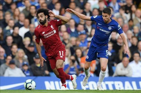Liverpool vs Chelsea Salah va Jorginho
