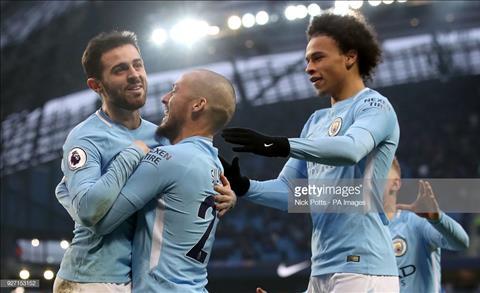 Bernardo Silva va Leroy Sane cua Manchester City