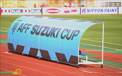 Bang ghe ky thuat tai san Hang Day da duoc dan xong bieu tuong AFF Cup 2018.