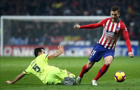 Barca vs Atletico Busquets Lucas