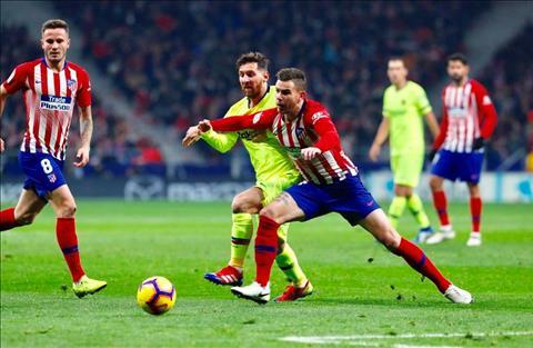 Barca vs Atletico Messi tranh bong