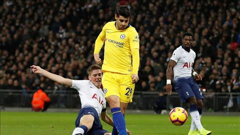 Morata choi that vong truoc Tottenham