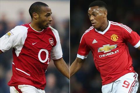 Martial thua nhan than tuong huyen thoai Arsenal Henry