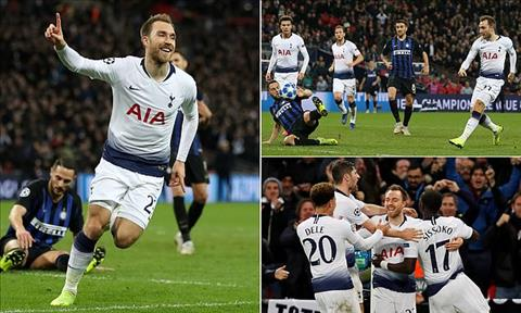Christian Eriksen Du am Tottenham vs Inter Milan