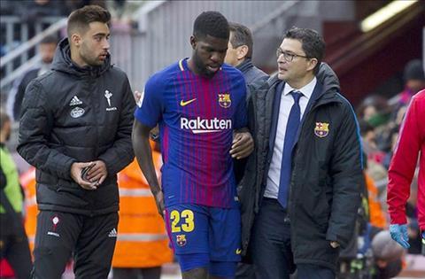 Barca cập nhật tình hình chấn thương của Umtiti hình ảnh