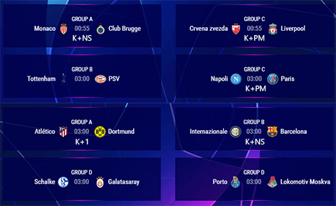 Lịch thi đấu C1 đêm nay 711 LTĐ Champions League 2018 hình ảnh