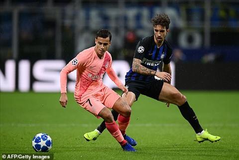 Philippe Coutinho dính chấn thương sau trận hòa Inter Milan hình ảnh