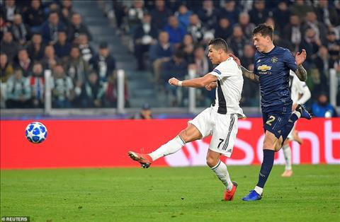Ronaldo ghi ban cho Juventus truoc M.U
