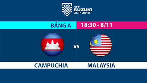 Link xem trực tiếp Campuchia vs Malaysia bóng đá AFF Cup 2018 hình ảnh