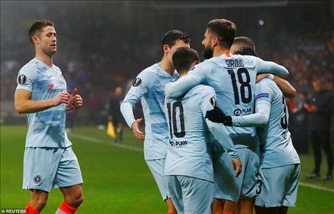 Chelsea won 4 consecutive games to lose the Europa League next leg