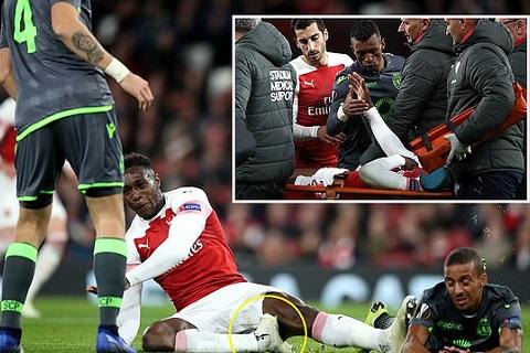 Tiền đạo Welbeck dính chấn thương nặng trong trận hòa Sporting hình ảnh