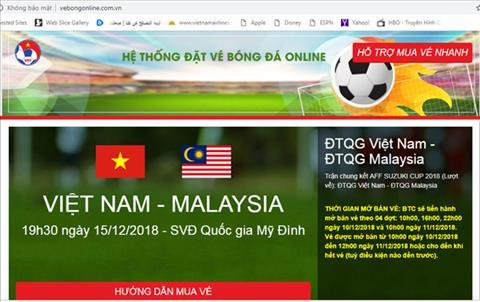 Xuất hiện website bán vé giả trận Việt Nam vs Malaysia hình ảnh