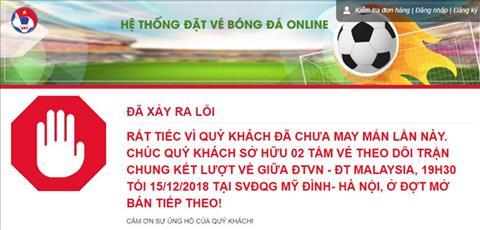 Đợt cuối mở bán vé trận Việt Nam vs Malaysia Hết trong 1 nốt nhạc hình ảnh