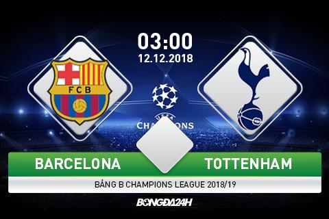 Nhận định Barca vs Tottenham 3h00 ngày 2911 vòng bảng C1 hình ảnh