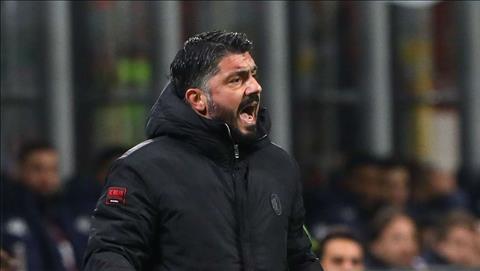 AC Milan bị loại từ vòng bảng Europa League, HLV Gattuso nổi xung hình ảnh