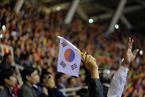 La co Han Quoc tung bay tai SVD My Dinh