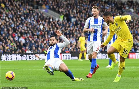 Hazard trận Brighton vs Chelsea Hai sai biến thành một đúng hình ảnh