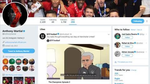 Anthony Martial vui mừng sau khi Mourinho bị sa thải hình ảnh