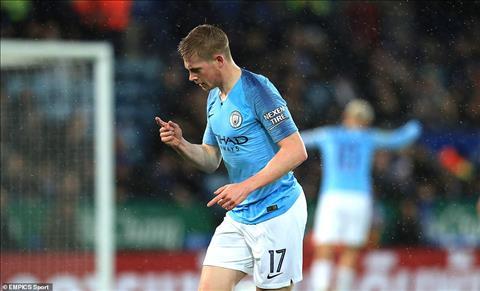 De Bruyne nói về bàn thắng vào lưới Leicester hình ảnh