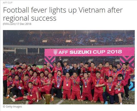 FIFA chúc mừng thành công của bóng đá Việt Nam hình ảnh
