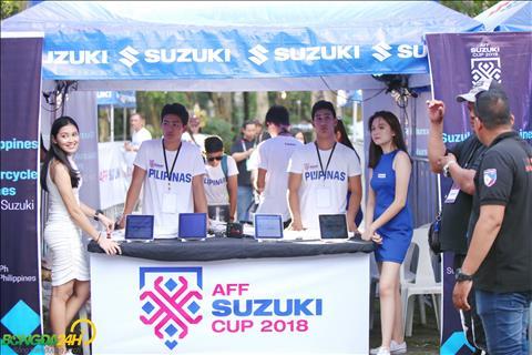 Nha tai tro Suzuki da to chuc mot chuong trinh rieng dong hanh cung tran dau giua Philippines vs Viet Nam.