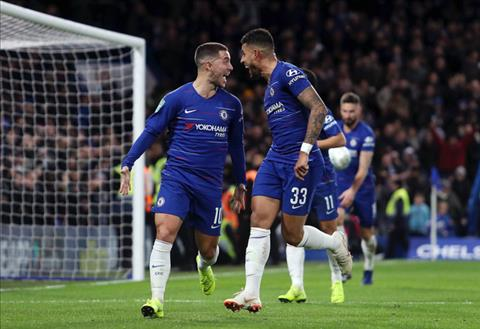 Hazard giup Chelsea gianh ve vao ban ket
