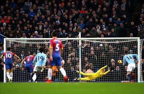 Man City vs Palace Milivojevic da pen