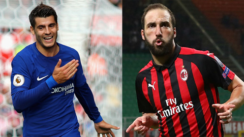 Chelsea muon trao doi giua Morata va Higuain