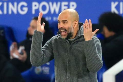 HLV Pep Guardiola phát biểu trận Man City vs Leicester thất bại hình ảnh