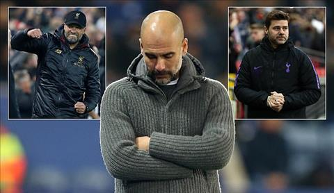 Man City Pep Guardiola tut xuong thu 3