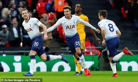 Tottenham dan truoc 1-0 sau 45 phut dau tien