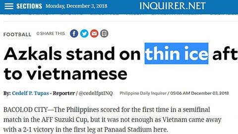 Truyền thông Philippines nói về thất bại trước ĐT Việt Nam hình ảnh