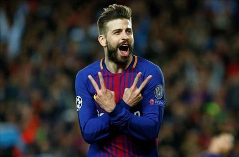 Pique ghi ban cho Barca