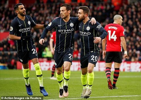 David Silva ghi ban mo ti so trong tran dau giua Southampton vs Man City.