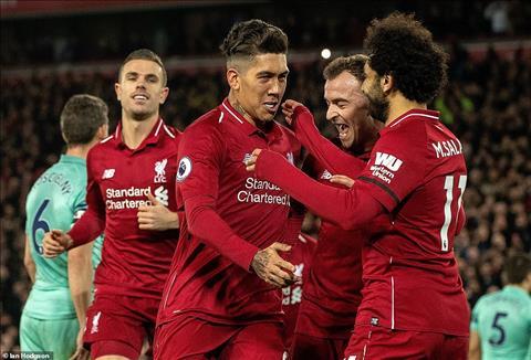 Salah nhường pen cho Firmino ở trận Liverpool vs Arsenal hình ảnh