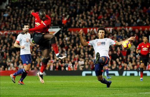 M.U 4-1 Bournemouth Lukaku ghi ban