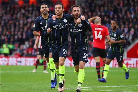 Man City vs Southampton Bernardo Silva va David Silva