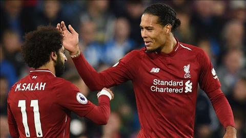 Van Dijk bảo vệ Salah ở trận Liverpool vs Arsenal hình ảnh
